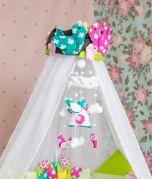 Baby Mobile - Echte Handarbeit - FourSeasonsDream - Zu Gast beim Frühling