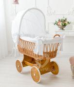 Berceau SNUGLY - couleur bois nature - Avec linge de lit