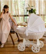 Berceau XXL HOME - couleur bois blanche - Avec linge de lit