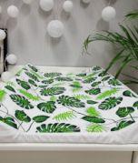Matelas à langer - feuilles vert / blanc